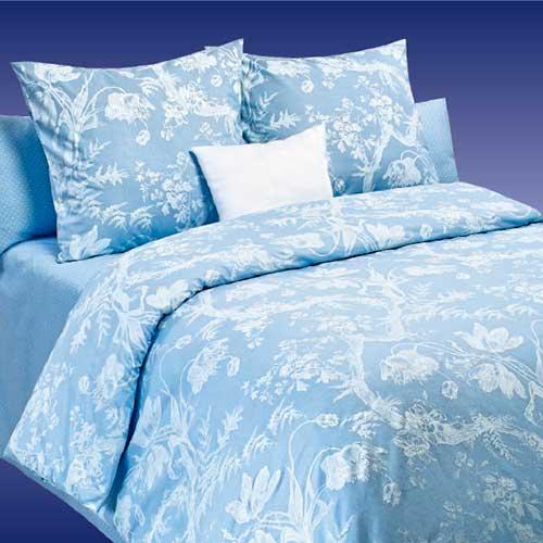 Постельное белье COTTON DREAMS Валенсия (Valensia) - Komo Голубой (Комо Голубой)