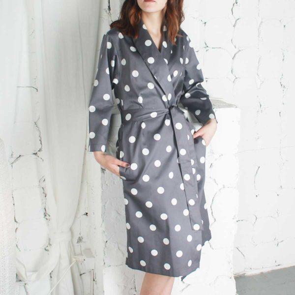 Купить халат из сатина CHANEL CLASSIC макси из коллекции Премиата
