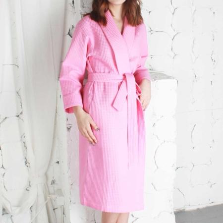 Купить халат вафельный розовый от компании Cotton Dreams