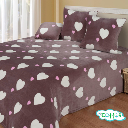 Плед Love (Лав) велсофт от компании Cotton Dreams