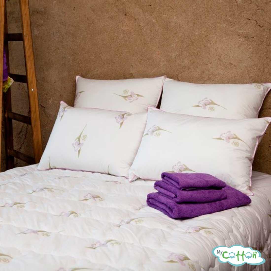 Одеяло стёганое шёлковое Nature`s (Натурес) «Радужный ирис» всесезонное