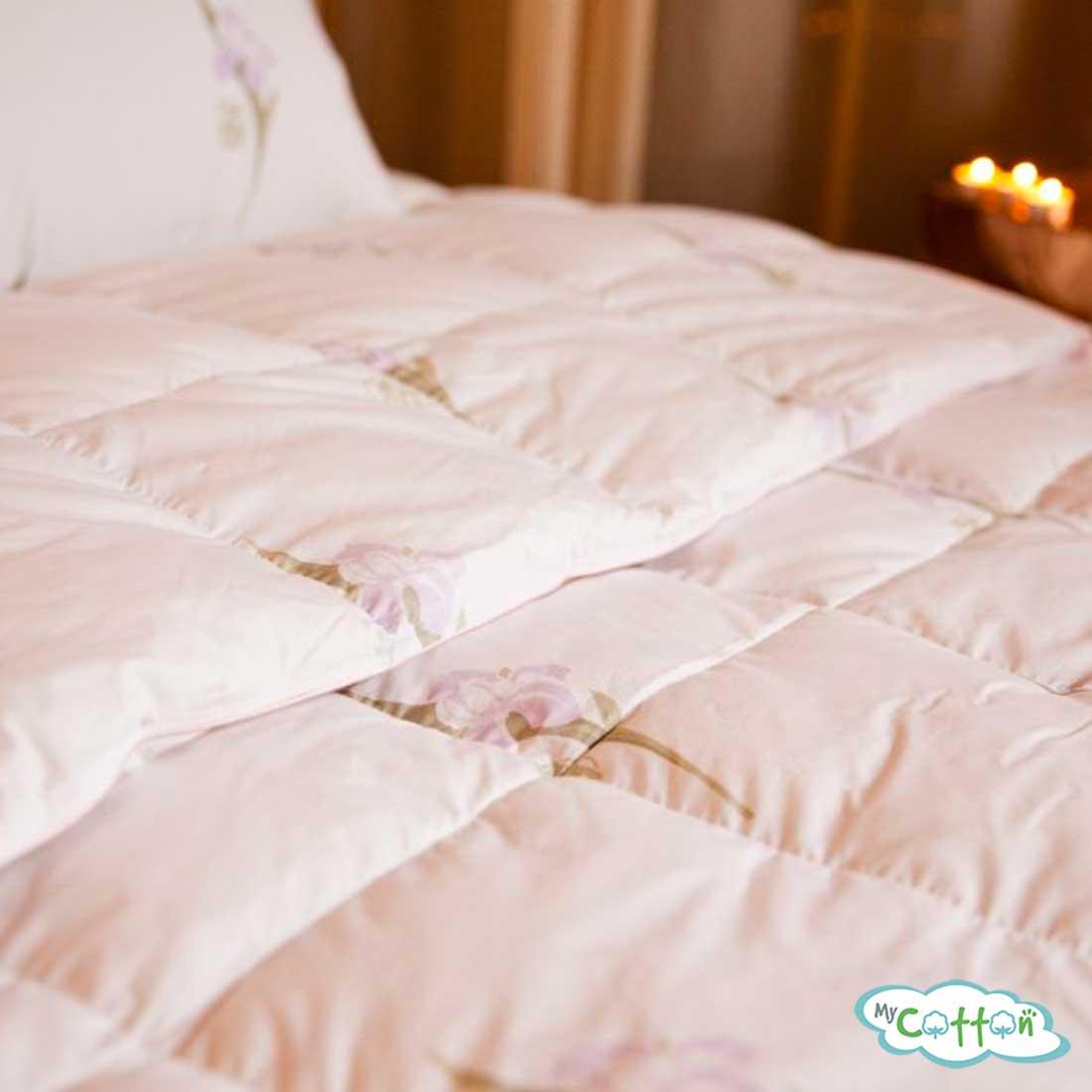 Одеяло пуховое кассетное Nature`s (Натурес) «Царственный Ирис» теплое