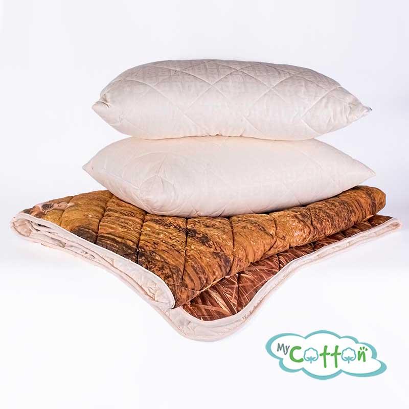 "Комплект из одеяла и подушки Nature`s (Натурес) ""Уссурийские тигры"""