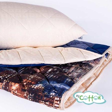 "Комплект из одеяла и подушки Nature`s (Натурес) ""Вечерний город"""
