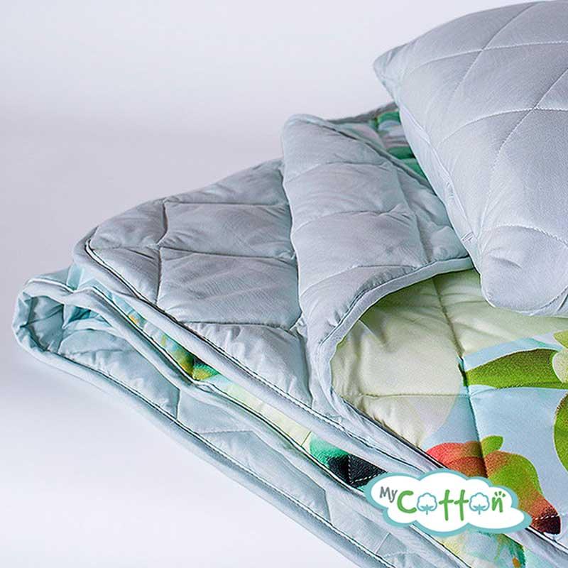 "Комплект из одеяла и подушки Nature`s (Натурес) ""Яркие цветы"""