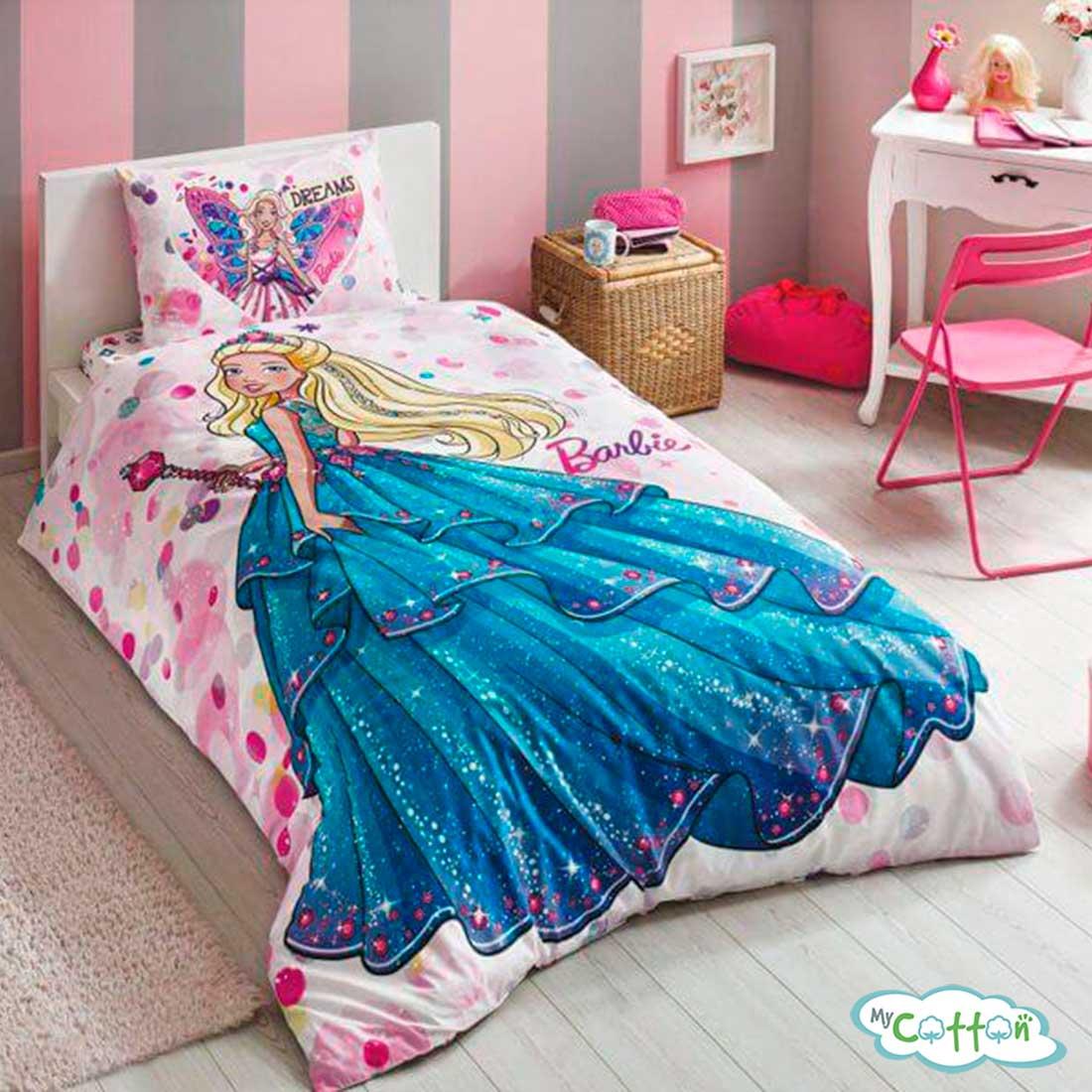 Детский комплект постельного TAC (Тач)BARBIE DREAM