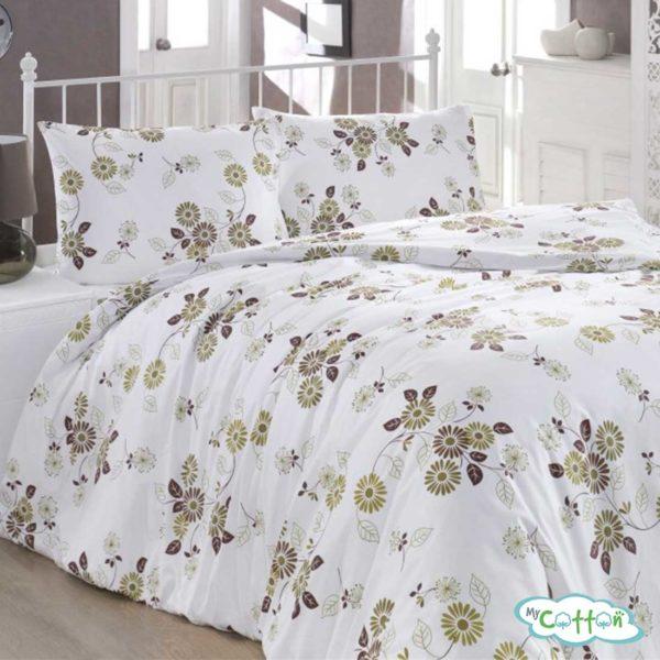 Комплект постельного белья BRIELLE, белый с цветами