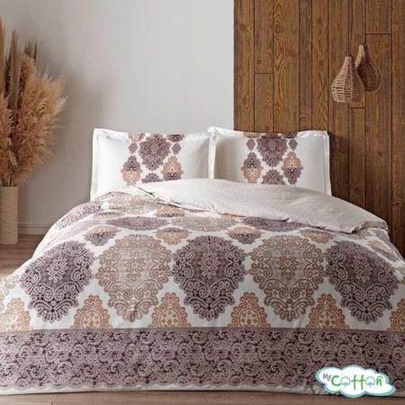 Комплект постельного белья TAC, коллекция GLOW SATEN,CARINA