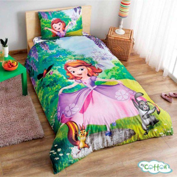 Детский комплект постельного для девочки TAC (Тач) DISNEY SOFIA FOREST