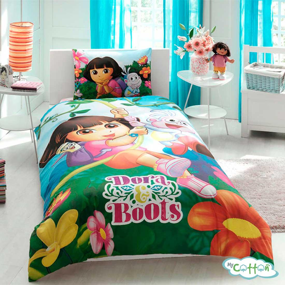 Детский комплект постельного белья для девочки TAC (Тач)DORA AND BOOTS