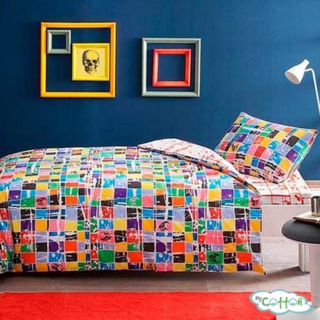 Комплект постельного белья TAC, GRAFFITI SQUARE