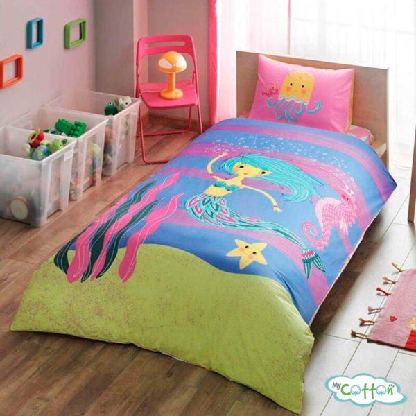 Детский комплект постельного TAC (Тач) HALLMARK MERMAID
