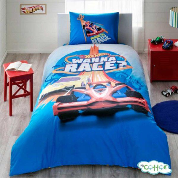 Детский комплект постельного TAC (Тач) HOT WHEELS RACE