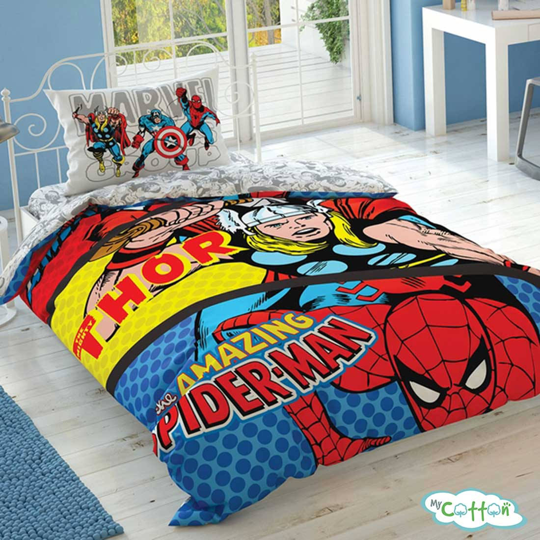 Детский комплект постельного TAC (Тач) MARVEL COMICS