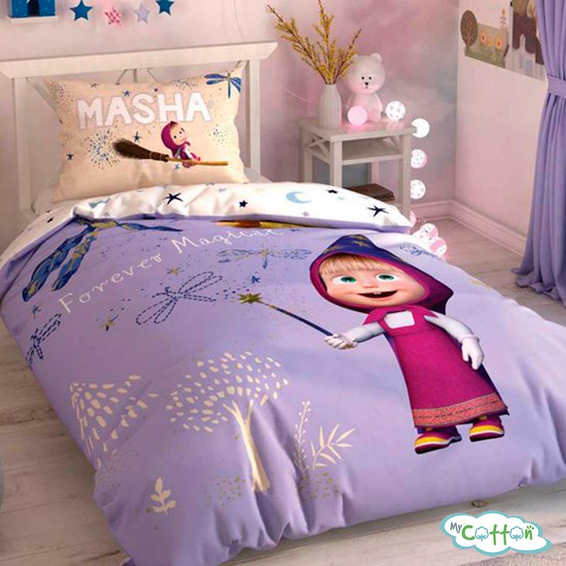 Детский комплект постельного TAC (Тач) MASHA AND THE BEAR MAG