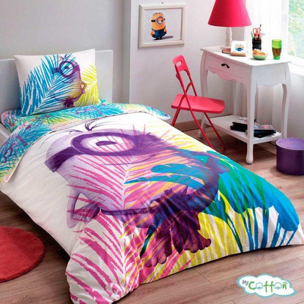 Детский комплект постельного белья для девочки TAC (Тач)MINIONS PARADISE