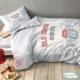 Комплект постельного белья TAC,ROUTE серый