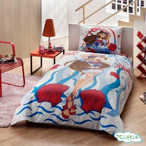 Детский комплект постельного белья для девочек TAC (Тач)WINX FLORA OCEAN