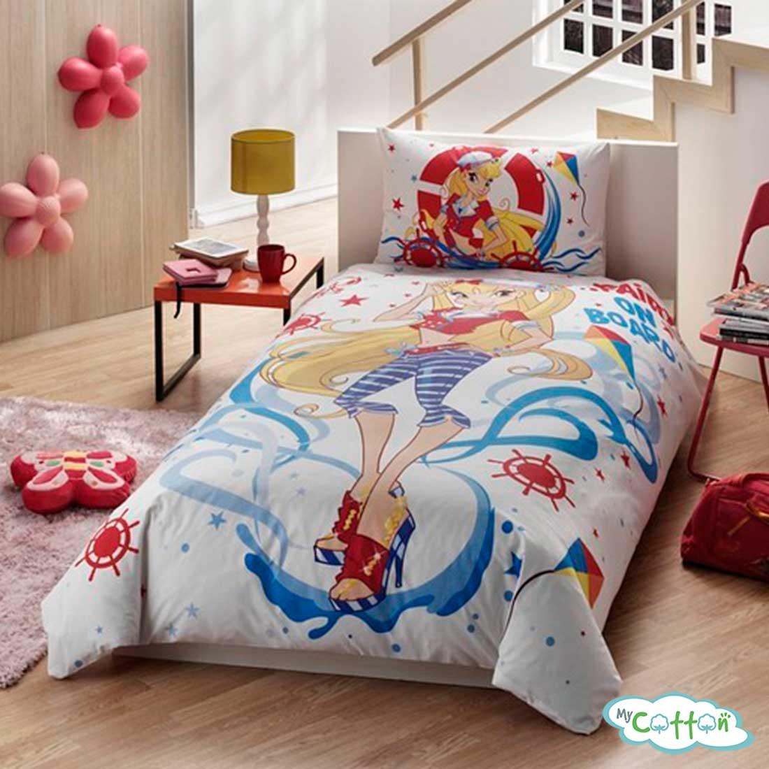 Детский комплект постельного белья для девочек TAC (Тач) WINX STELLA OCEAN