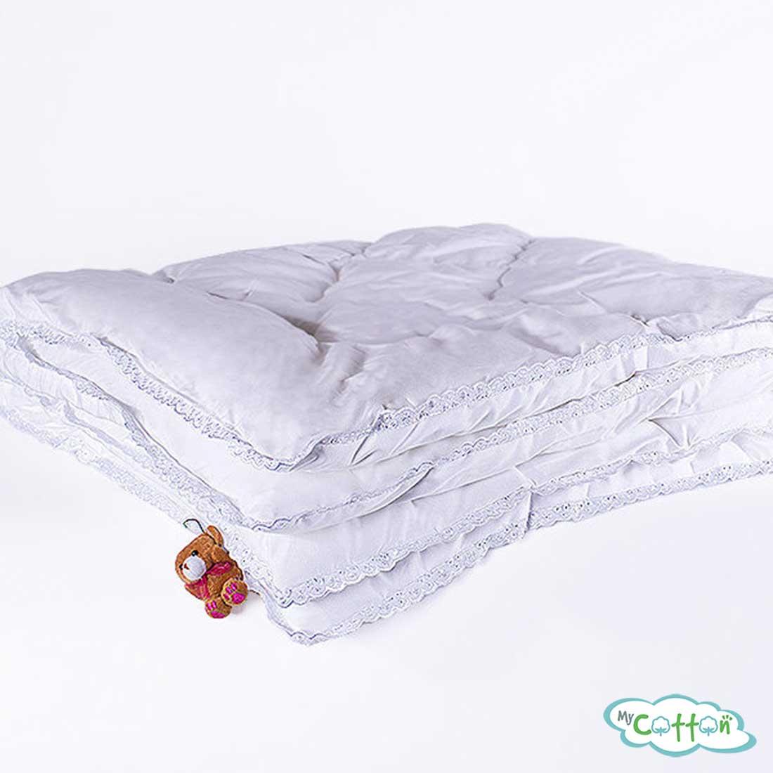 Одеяло стеганое Nature`s (Натурес) «Бамбуковый медвежонок» всесезонное с кружевом