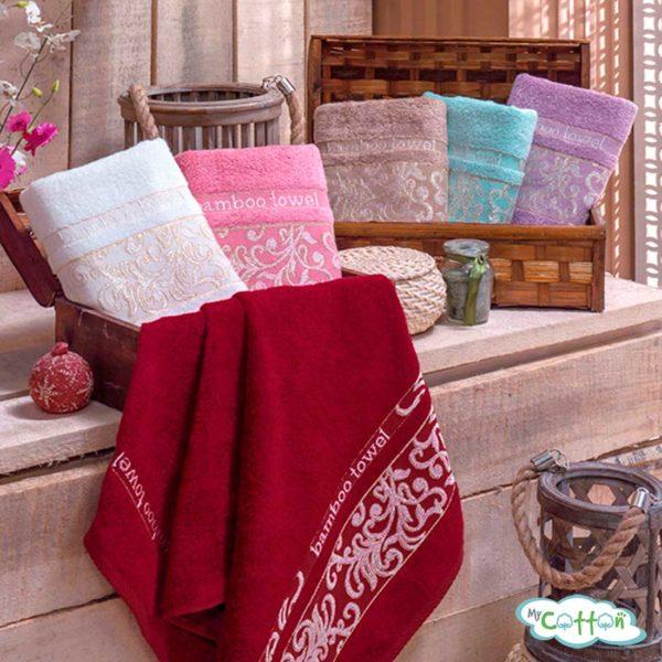 Полотенце махровоеBRIELLE коллекция JACQUARD с вышивкой