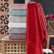 Полотенце махровое TAC цвет красный