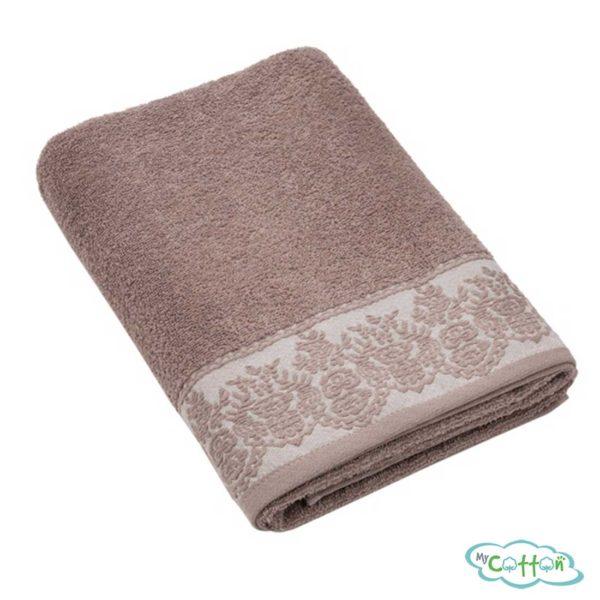 Полотенце махровое BRIELLE цвет коричневый