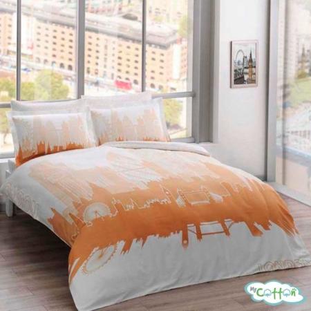 Комплект постельного белья TAC, коллекция GLOW SATEN,LONDON