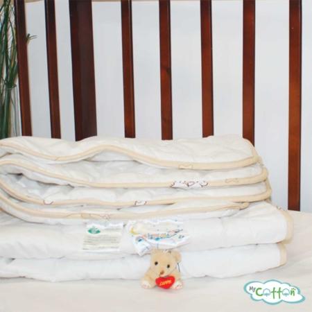 Одеяло стеганое Nature`s (Натурес) «Нежный ангелочек» легкое, с хлопком
