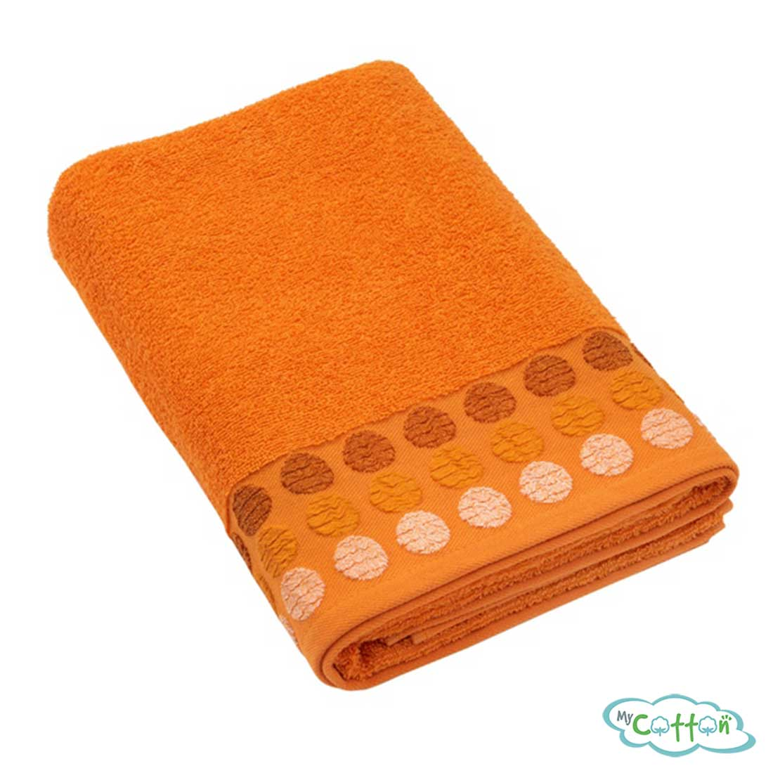 Полотенце махровое BRIELLE цвет оранжевый