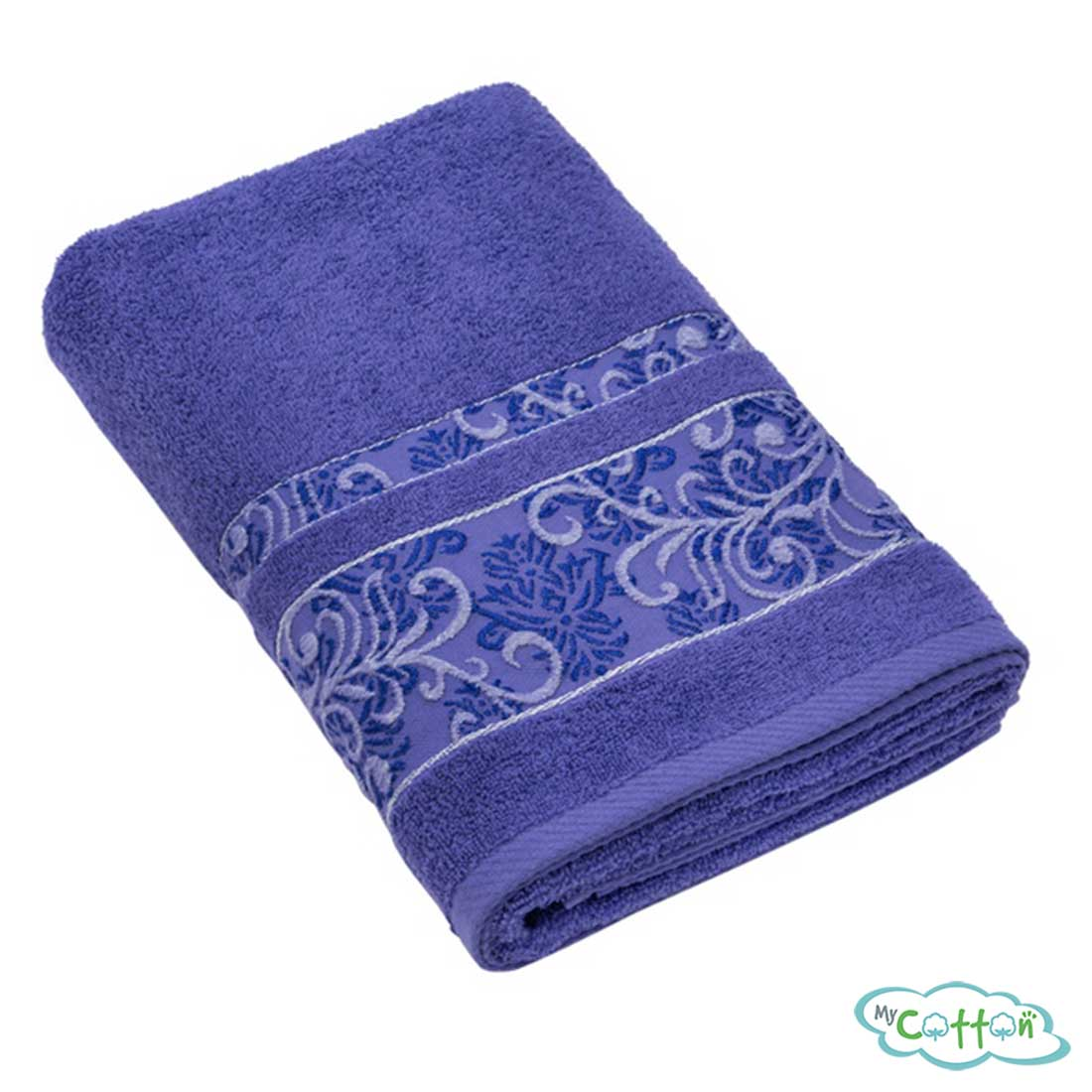 Полотенце махровое BRIELLEпурпурное с вышивкой