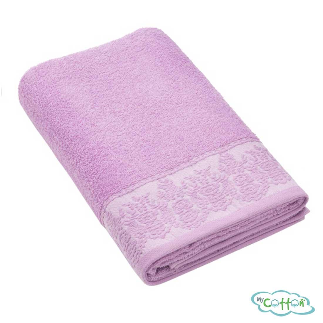 Полотенце махровое BRIELLE цвет пурпурный