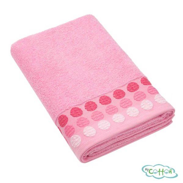Полотенце махровое BRIELLE цвет розовый