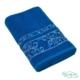 Полотенце махровое BRIELLEцвет темно-синий с вышивкой