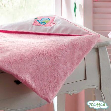 Уголок махровый для купания малыша TAC розовый