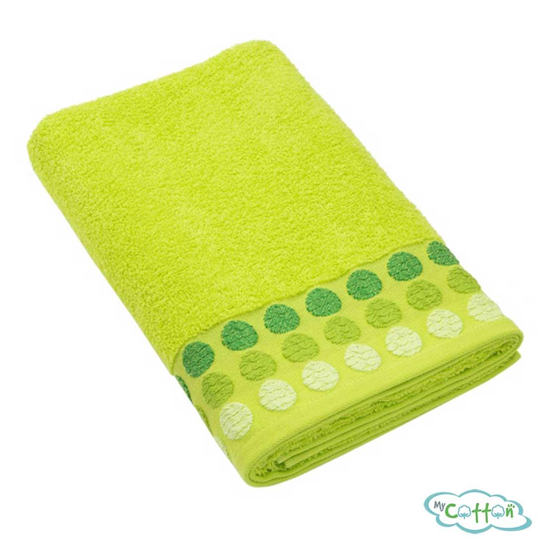 Полотенце махровое BRIELLE цвет зелёный
