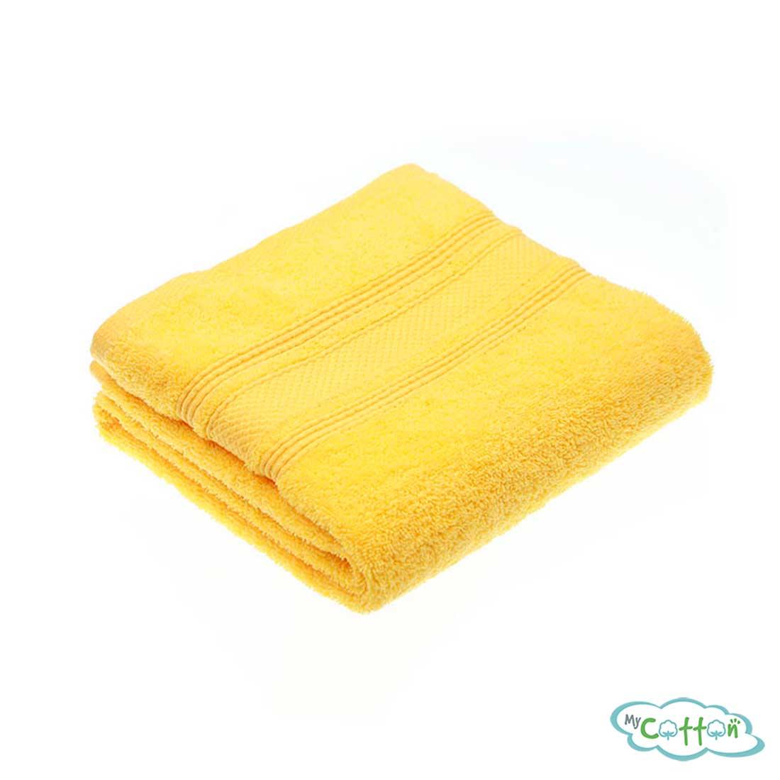 Полотенце махровое TAC цвет желтый