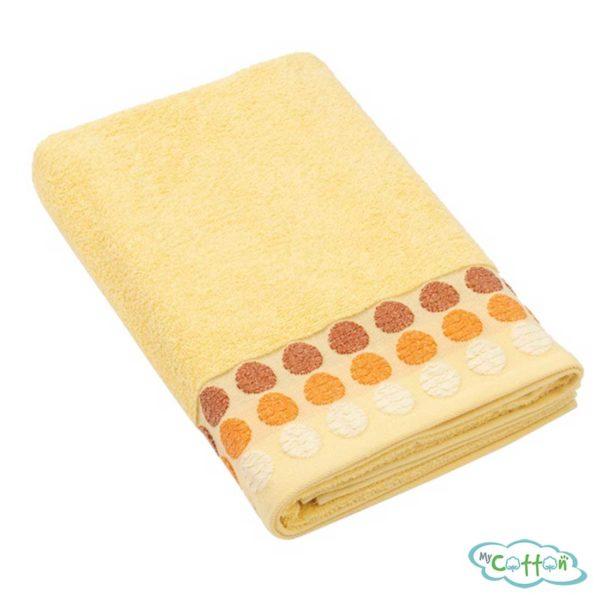 Полотенце махровое BRIELLE цвет жёлтый
