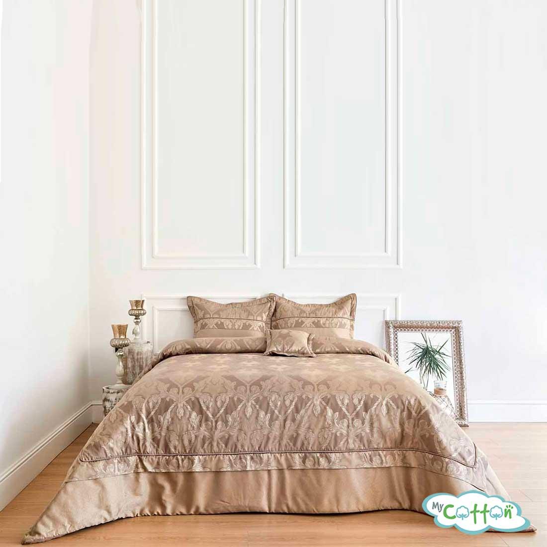 """Покрывало темно-коричневое в наборе""""AMARA"""" от Soft Cotton"""