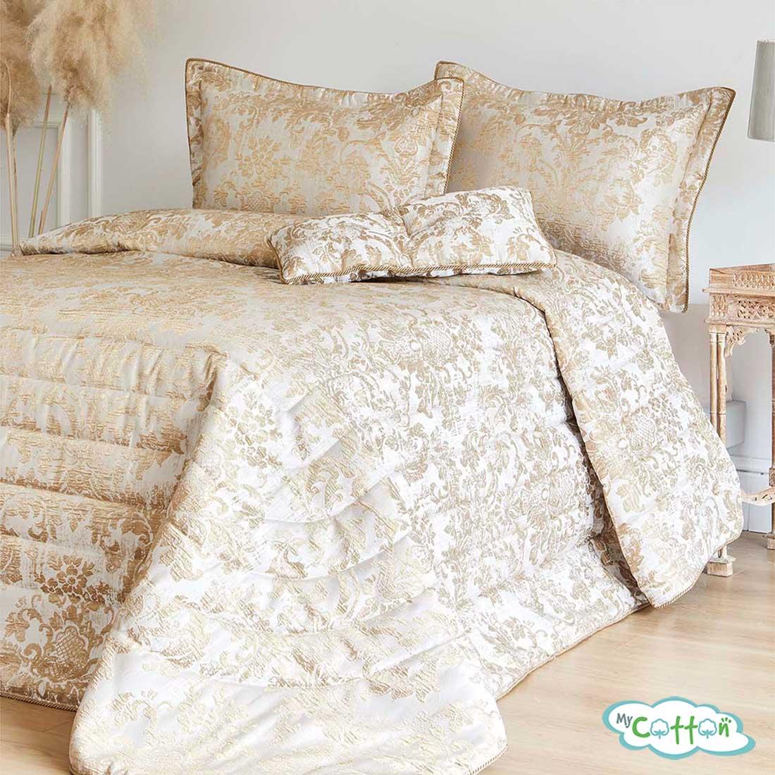 """Покрывало кремовое в наборе""""Adria"""" от Soft Cotton"""