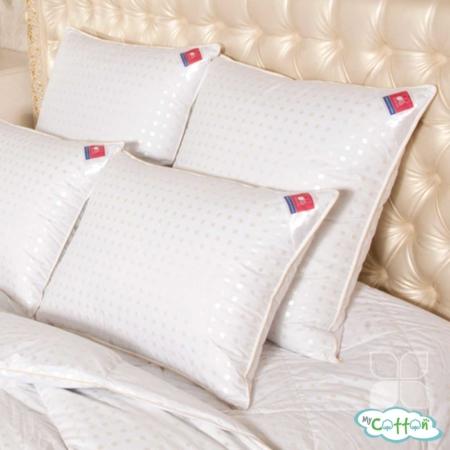 """Подушка """"Афродита"""" от компании Легкие сны, средней жесткости, пух """"Экстра"""""""