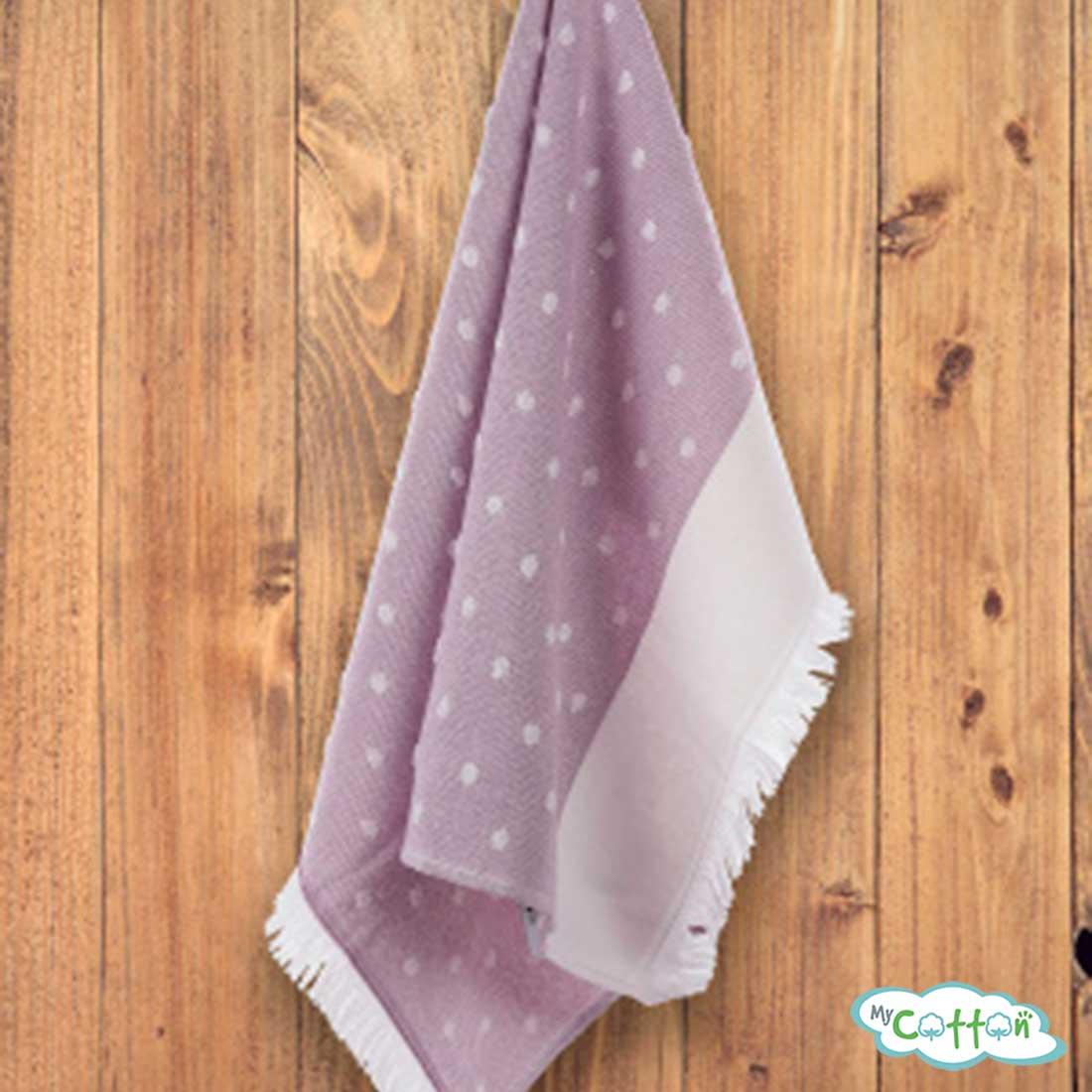 "Кухонное полотенце жаккард Tivolyo Home ""DOTTY"", цвет фиолетовый"