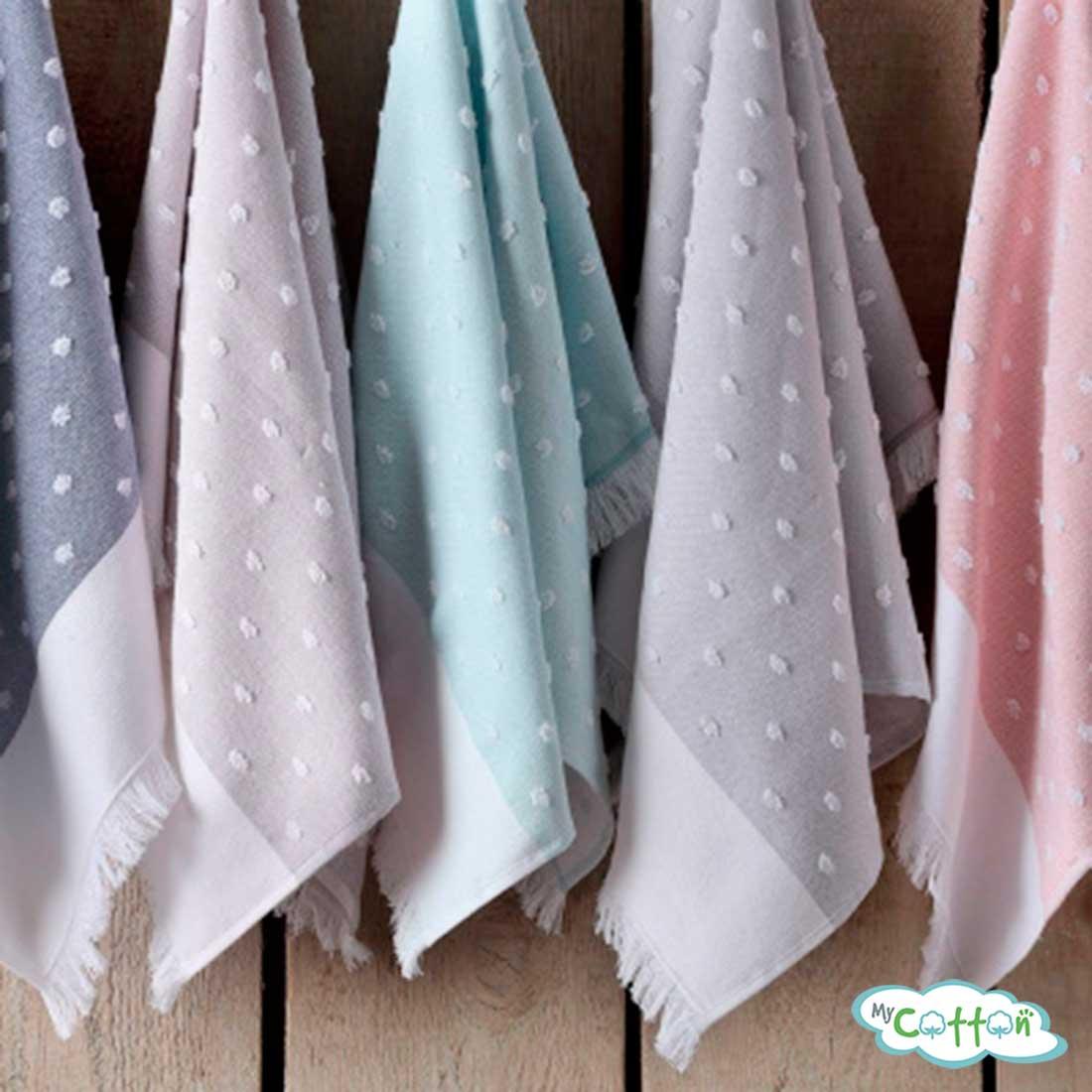 "Кухонное полотенце жаккард Tivolyo Home ""DOTTY"", цвет розовый"