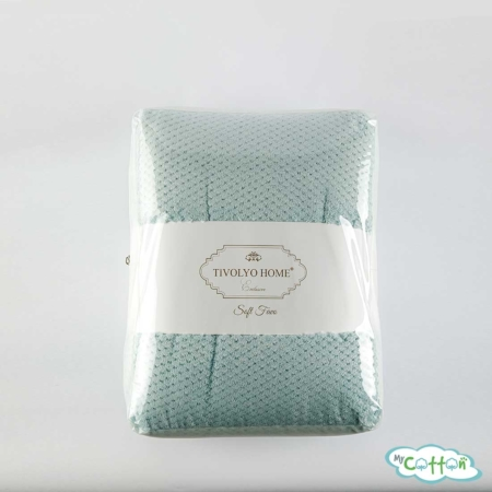 "Плед флисовый Tivolyo home ""FAVO SOFT"" бирюзовый"