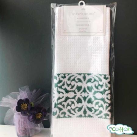 "Кухонное вафельное полотенце Tivolyo Home ""Home ARES"", цвет зеленое"