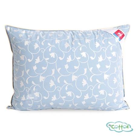 """Детская подушка """"Камелия"""" от компании Легкие сны, средней жесткости, голубая"""