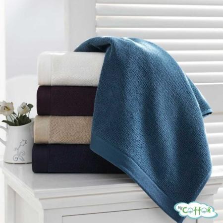 Полотенце махровое Soft Cotton голубое LORD