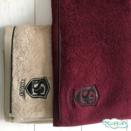 Полотенце махровое Soft Cotton бордовое LUXURE