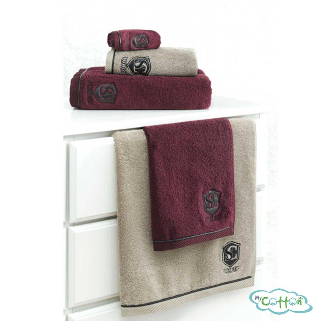 Полотенце махровое Soft Cotton коричневоеLUXURE