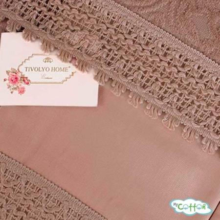 """Покрывало коричневое в наборе""""La Perla"""" от Tivolyo Home"""